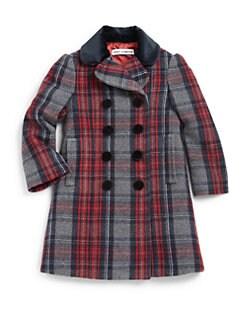 Dolce & Gabbana - Toddler's & Little Girl's Wool-Blend Plaid Coat