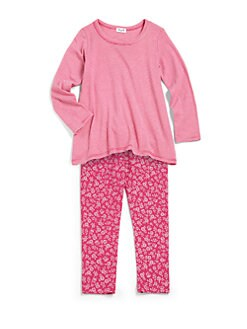 Splendid - Toddler's & Little Girl's Two-Piece Swing Top & Floral Leggings Set