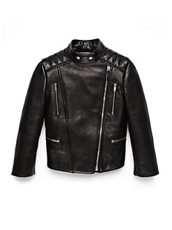 Gucci - Little Girl's Mixed-Media Leather Biker Jacket