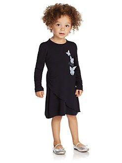 Armani Junior - Toddler's & Little Girl's Butterfly Jersey Dress