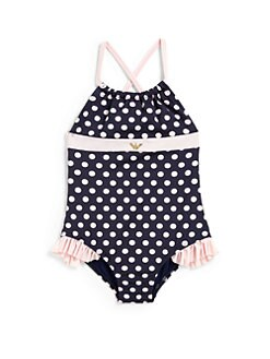Armani Junior - Toddler's & Little Girl's Polka Dot Swimsuit