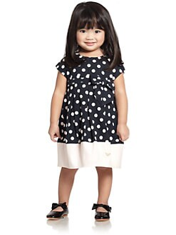 Armani Junior - Toddler's & Little Girl's Polka Dot Bubble Dress