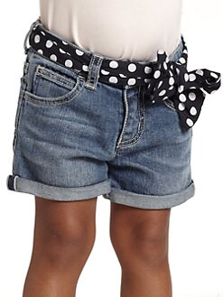 Armani Junior - Toddler's & Little Girl's Denim Shorts