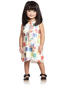 Armani Junior - Toddler's & Little Girl's Front Ruffle Dress