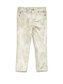 7 For All Mankind - Toddler's & Little Girl's Metallic Floral The Skinny Pants