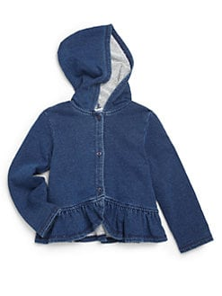 Splendid - Toddler's & Little Girl's Ruffled Denim Hoodie