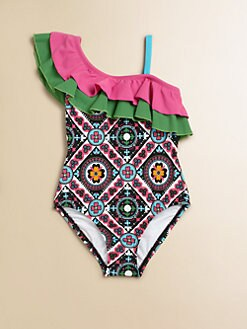Hartstrings - Toddler's & Little Girl's Ruffle-Shoulder Swimsuit