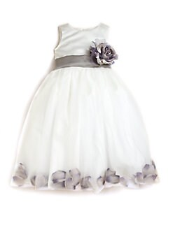 Us Angels - Toddler's & Little Girl's Satin & Tulle Rose Petal Dress