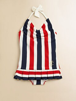 Juicy Couture - Toddler's & Little Girl's Port Stripe Swimdress
