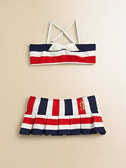 Juicy Couture - Toddler's & Little Girl's Port Stripe Two-Piece Swimsuit