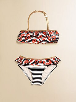 Little Marc Jacobs - Toddler's & Little Girl's Stripey Mademoiselle Danger Bikini