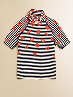 Little Marc Jacobs - Toddler's & Little Girl's Stripey Mademoiselle Danger Rash Guard Top