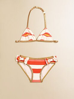 Little Marc Jacobs - Toddler's & Little Girl's Hayley Stripe Bikini