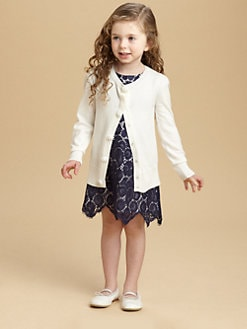 Milly Minis - Toddler's & Little Girl's Flower Button Cardigan
