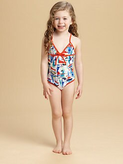 Milly Minis - Toddler's & Little Girl's One-Piece Sailboats Swimsuit
