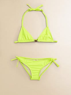 Milly Minis - Toddler's & Little Girl's Two-Piece Triangle Bikini Set