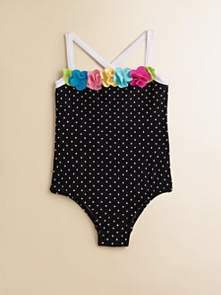 Love U Lots - Toddler's & Little Girl's Dotted Swimsuit