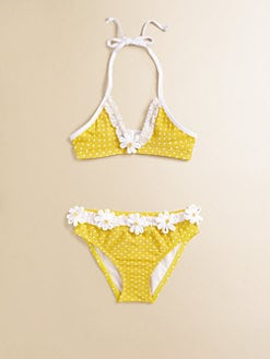 Love U Lots - Toddler's & Little Girl's Dotted Two-Piece Bikini