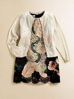 Dolce & Gabbana - Toddler's & Little Girl's Lace Silk & Cashmere Cardigan