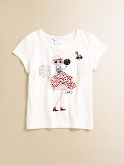 Little Marc Jacobs - Toddler's & Little Girl's Ostrich Print Tee