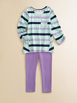 Splendid - Toddler's & Little Girl's Striped Tee & Leggings Set