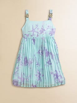 Versace - Toddler's & Little Girl's Starfish Print Silk Sundress