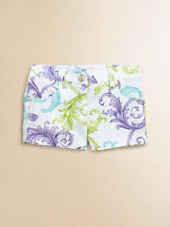 Versace - Toddler's & Little Girl's Print Twill Shorts