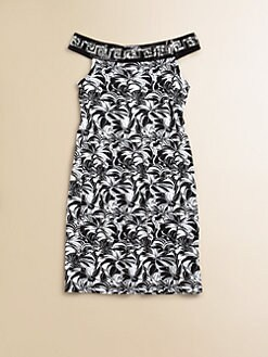 Versace - Toddler's & Little Girl's Embellished Print Knit Dress