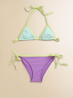 Versace - Toddler's & Little Girl's Colorblock String Bikini