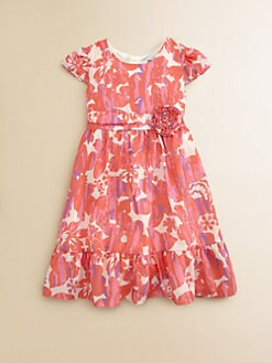 DKNY - Toddler's & Little Girl's Ruffled Floral Print Dress