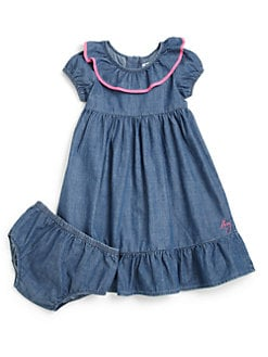 DKNY - Toddler's & Little Girl's Ruffled Denim Dress