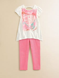 DKNY - Toddler's & Little Girl's Tunic and Leggings Set