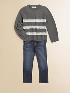 Design History - Toddler's & Little Girl's Lace Trim Sweater