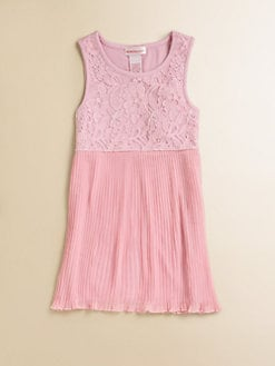 Design History - Toddler's & Little Girl's Lace & Pleats Dress