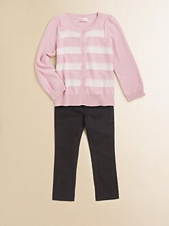 Design History - Toddler's & Little Girl's Lace-Striped Cardigan