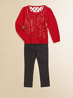 Design History - Toddler's & Little Girl's Sequined Cardigan