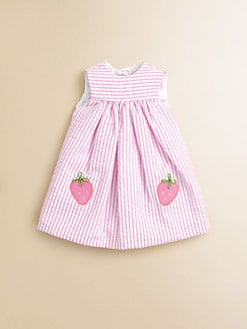 Florence Eiseman - Doll's Strawberry Seersucker Dress