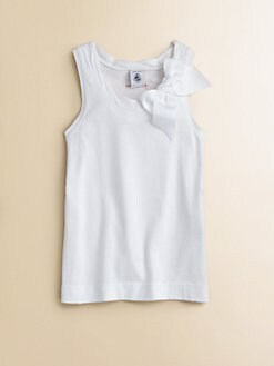 Petit Bateau - Toddler's & Little Girl's Bow Tank Top
