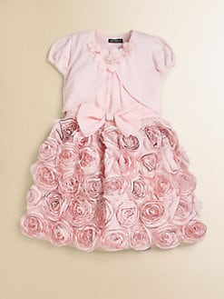 David Charles - Toddler's & Little Girl's Edge Rose Chiffon Dress