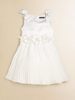 David Charles - Toddler's & Little Girl's Pleated Satin Dress