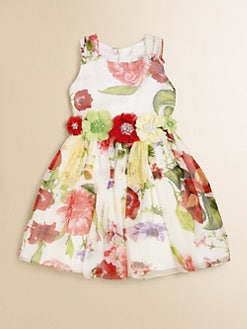 David Charles - Toddler's & Little Girl's Floral Silk Dress