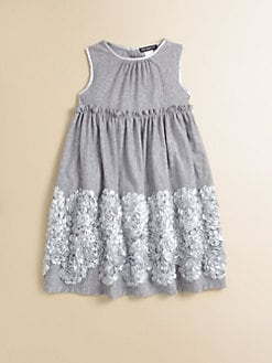 David Charles - Toddler's & Little Girl's Embroidered Jersey Dress