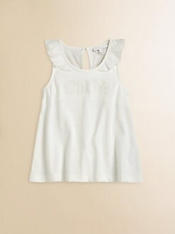 Chloe - Toddler's & Little Girl's Embroidered Logo Tank