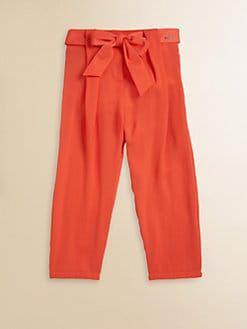 Chloe - Toddler's & Little Girl's Satin Bow Pants