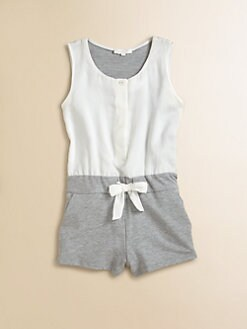 Chloe - Toddler's & Little Girl's Satin & Fleece Romper