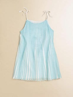 Chloe - Toddler's & Little Girl's Mini-Me Satin Pleated Dress