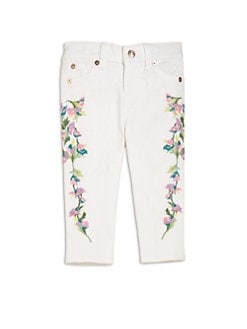 7 For All Mankind - Toddler's & Little Girl's Floral Embroidered Skinny Jeans