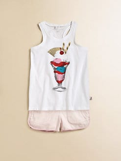 Stella McCartney Kids - Toddler's & Little Girl's Valentine Ice Cream Tank Top
