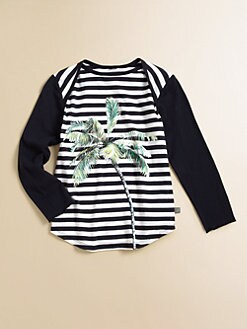 Stella McCartney Kids - Toddler's & Little Girl's Matilda Striped Palm Tree Tee