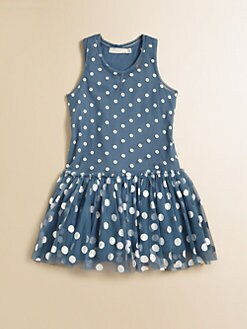 Stella McCartney Kids - Toddler's & Little Girl's Bell Dotted Tulle Dress